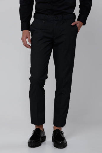 Full Length Trouser with Button Closure and Pocket Detail