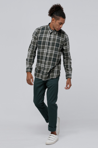 Sustainability Full Length Chino Pants with Button Closure