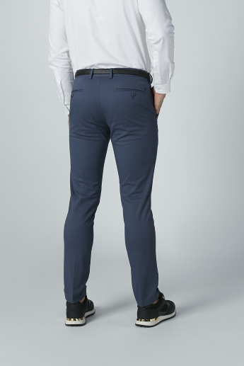 Full Length Solid Chinos with Pocket Detail