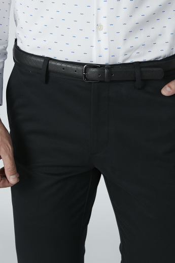 Solid Formal Trousers with Pocket Detail