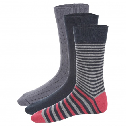 Assorted Crew Socks - Set of 3